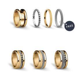Bering női gyűrű szett BICOLOUR-7