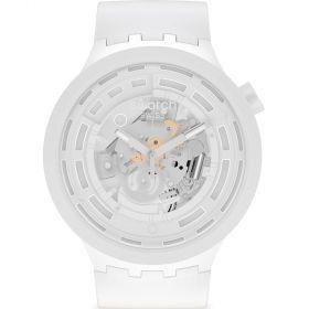 Swatch Big Bold C-White unisex karóra SB03W100