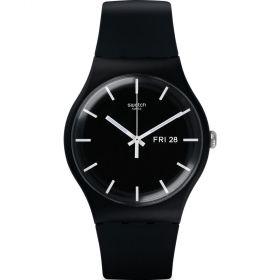 Swatch Power Tracking Mono Black unisex karóra SUOB720