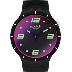 Swatch Futuristic Black unisex karóra SO27B119