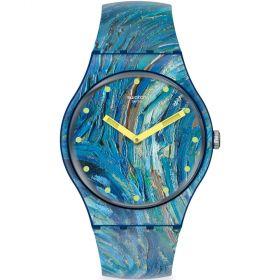 Swatch The Starry Night By Vincent Van Gogh unisex karóra SUOZ335